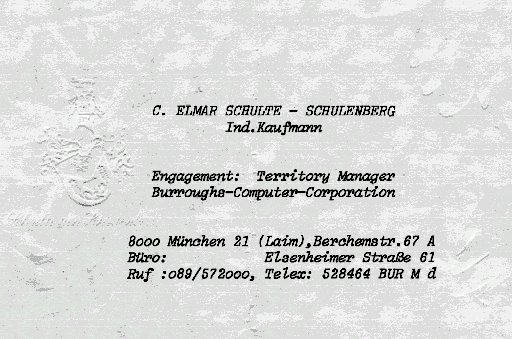 Territory Manager München für Burroughs-Computer-Corporation